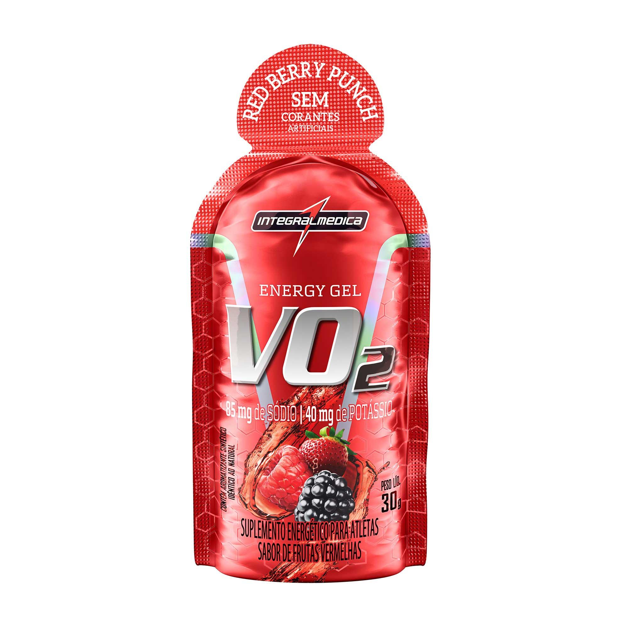 VO2 Gel Energético Frutas vermelhas 30g Integralmedica