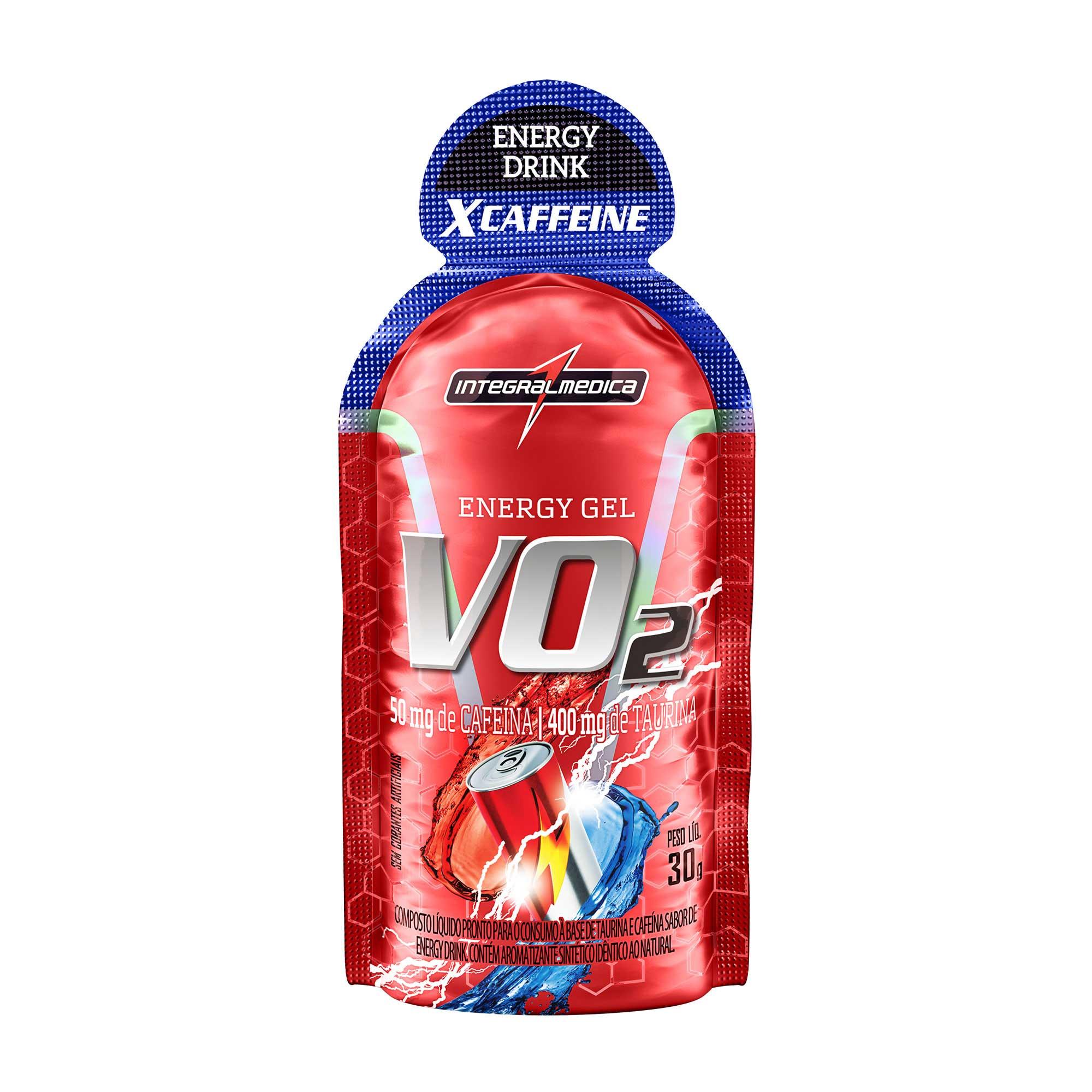VO2 Gel Energético X-Caffeine Energy Drink 30g Integralmedica
