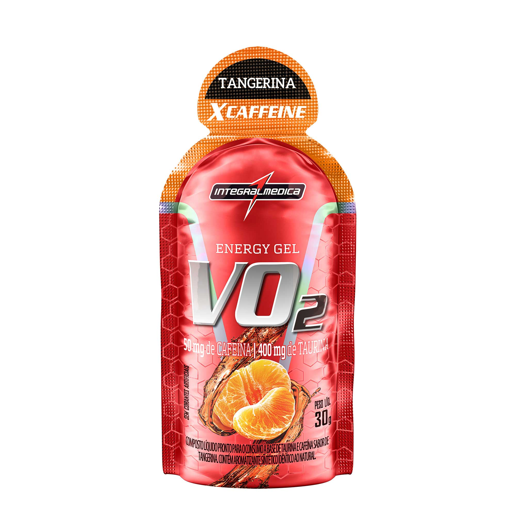 VO2 Gel Energético X-Caffeine Tangerina 30g Integralmedica