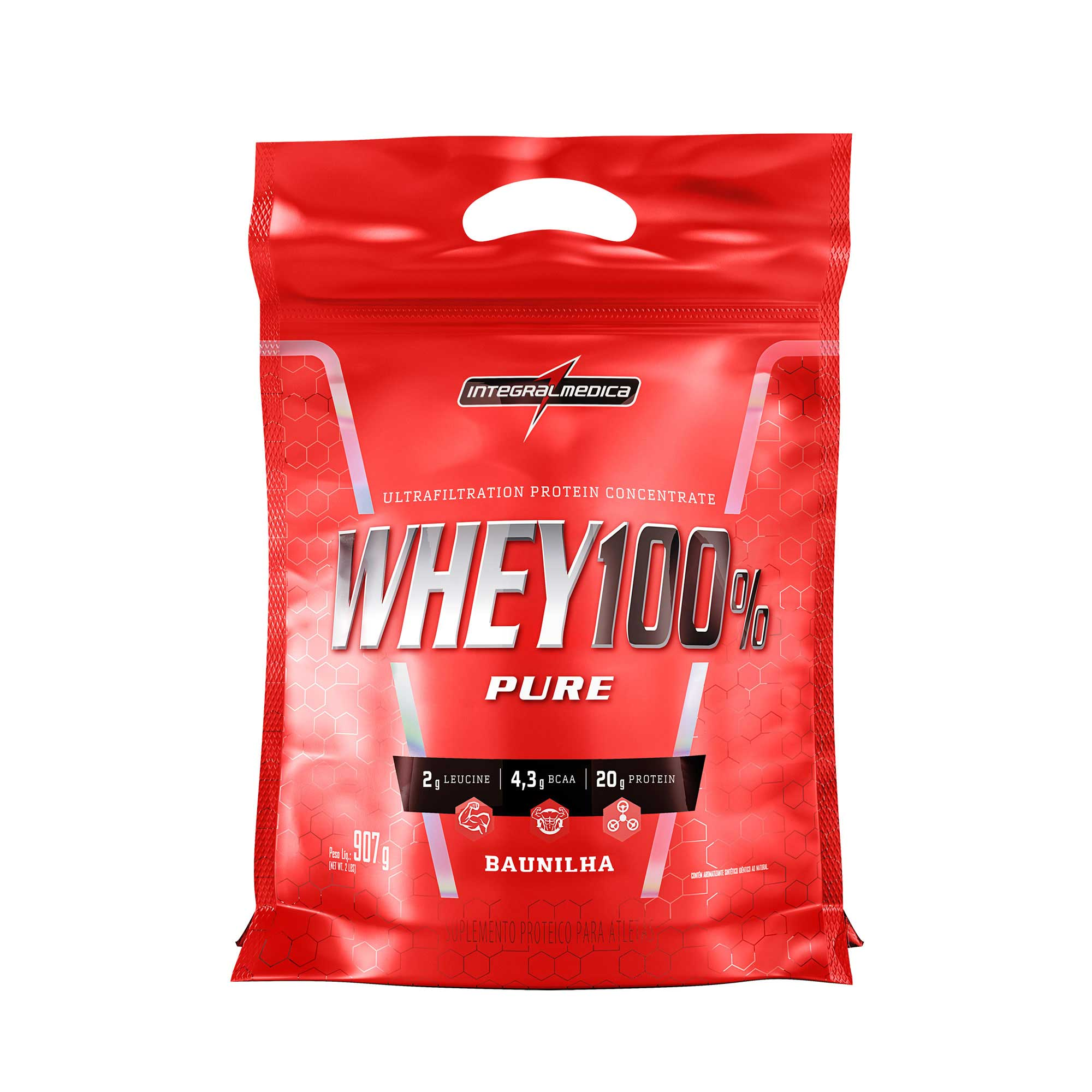 Whey 100% Pure Baunilha 907g Integralmedica