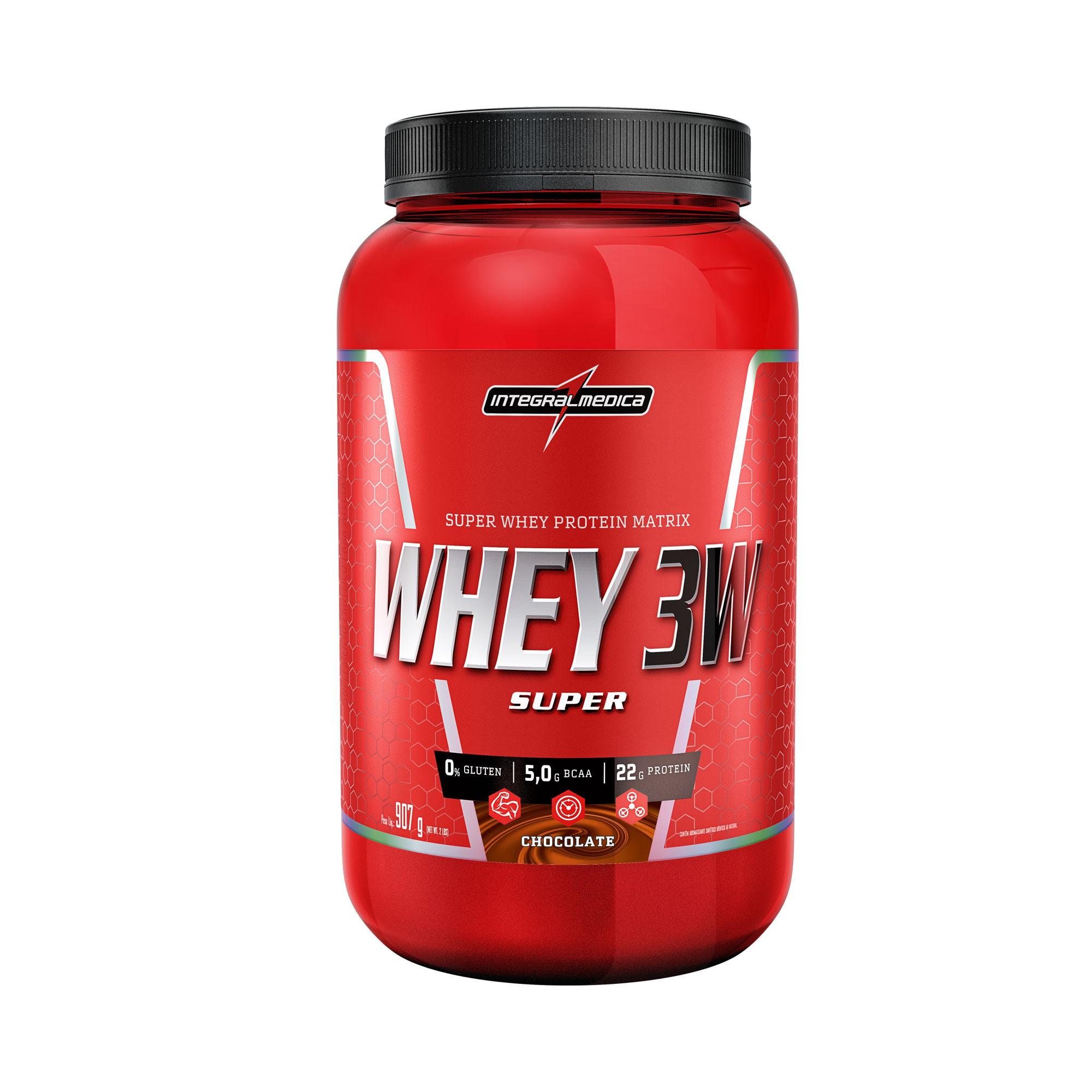 Whey 3W Super Chocolate 907g Integralmedica