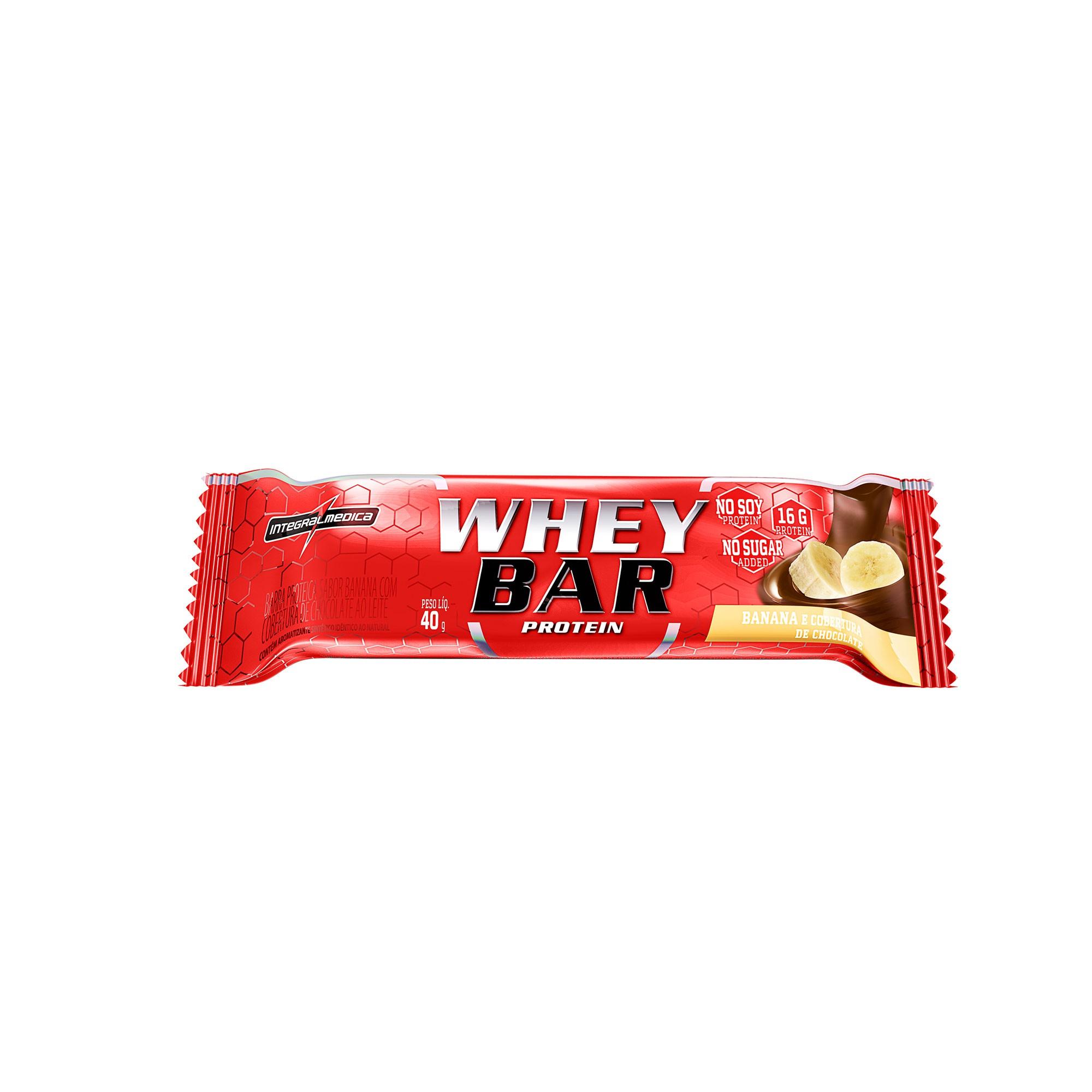 Whey Barra Proteica Banana Com Chocolate 40g Integralmedica
