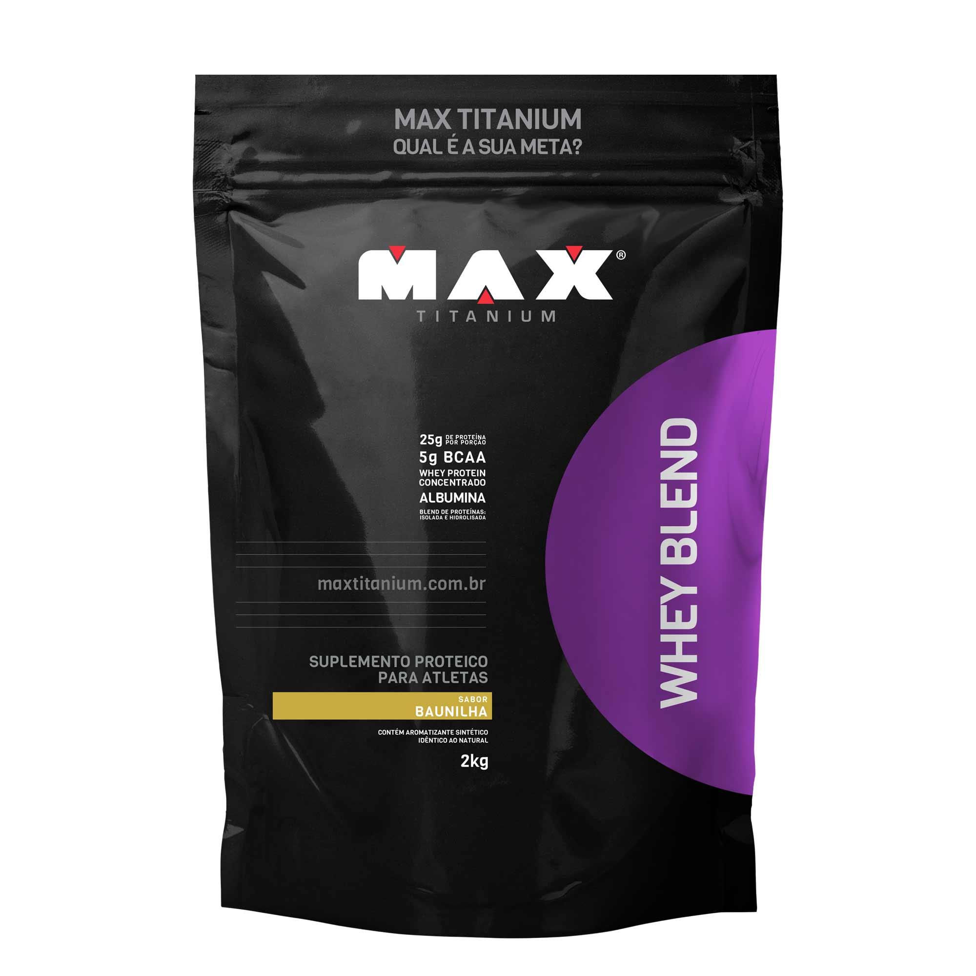 Whey Blend baunilha 2kg Max Titanium