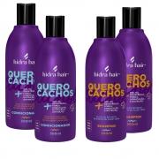 Kit 2 Shampoos + 2 Condicionadores Sem Sulfato- para cabelos cacheados 2, 3 e 4 ABC