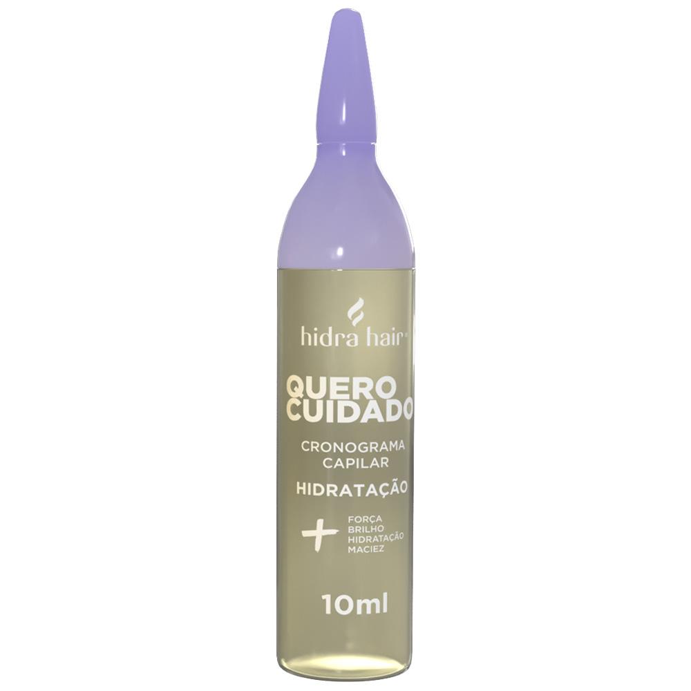 Ampola Hidratação Cronograma Capilar Quero Cuidado Hidra Hair 10 ml