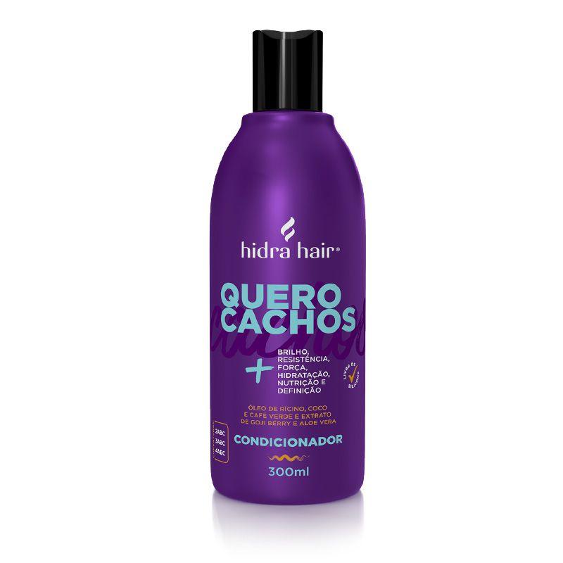 Condicionador Hidratante Quero Cachos Hidra Hair 300 ml