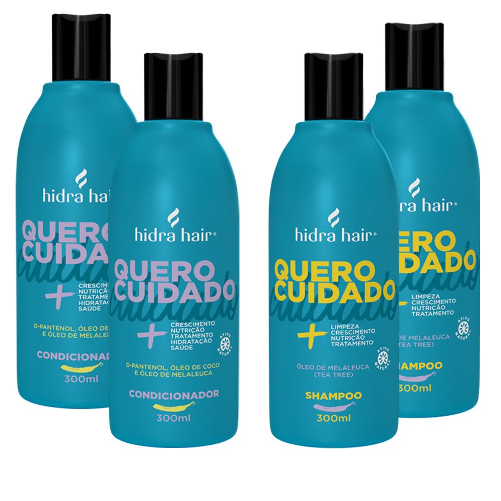 Kit 2 Shampoos + 2 Condicionadores Óleo de Melaleuca- para todos os tipos de cabelo