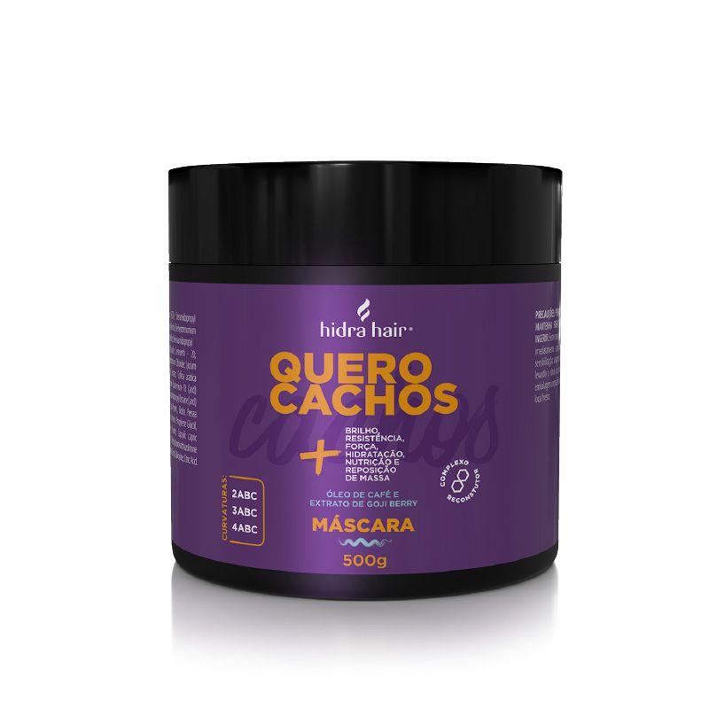 Máscara Reconstrutora Quero Cachos Hidra Hair 500 gr