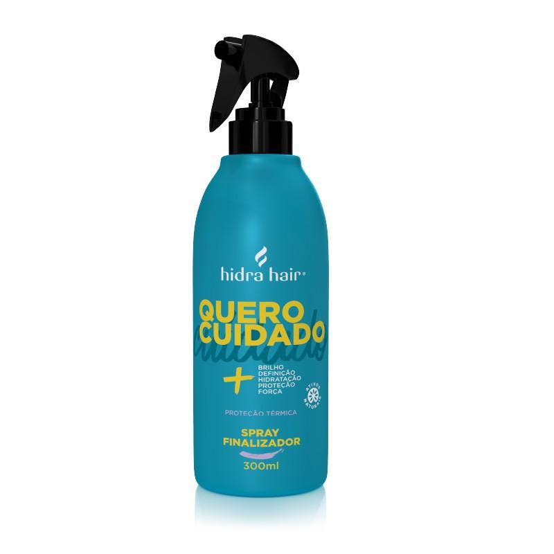 Shampoo Quero Cuidado Hidra Hair 300 ml + Condicionador Quero Cuidado Hidra Hair 300 ml + Spray Finalizador Quero Cuidado Hidra Hair 300 ml + Óleo Reparador Quero Cuidado Hidra Hair 100 ml