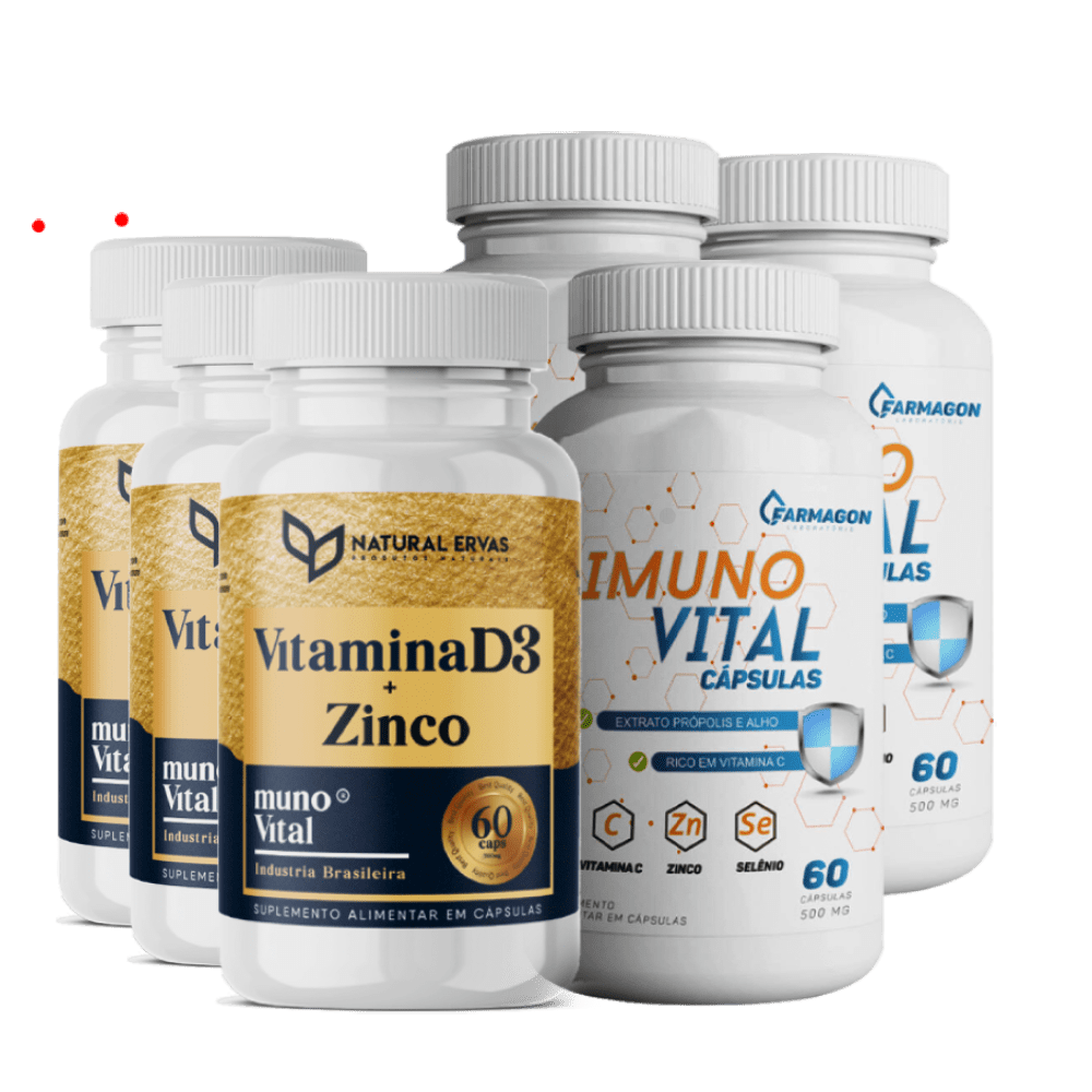 Kit Imunidade Total 3 Imuno Vital 3 Vitamina D3