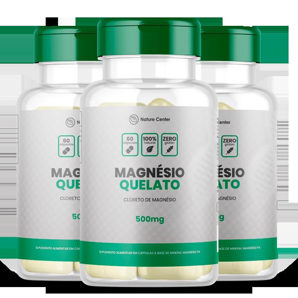 Magnesio de quelato (3 Unidades)