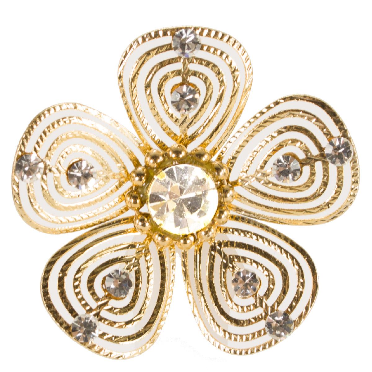 Brinco semi jóias com strass cristal