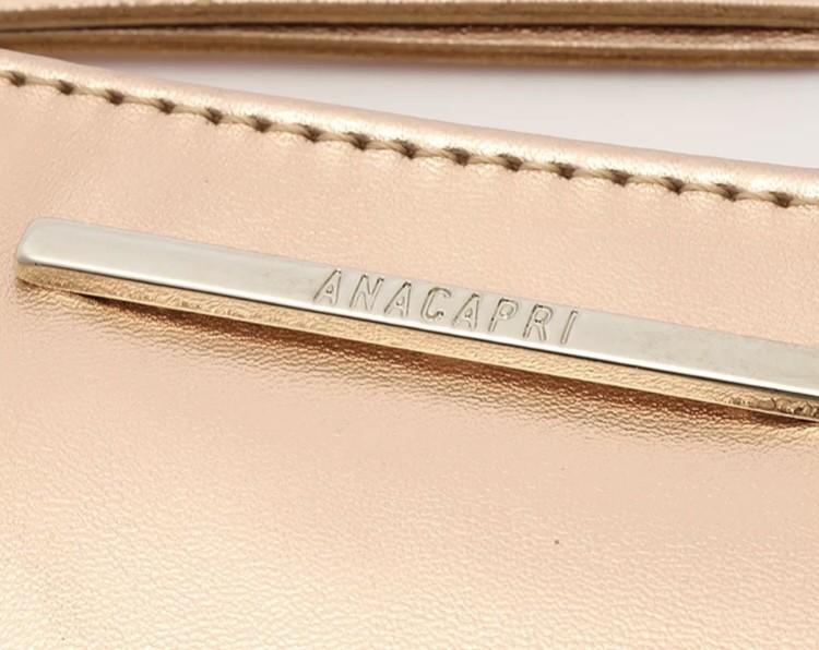 Bolsa Anacapri Pequena Metalizada Slim Cobre