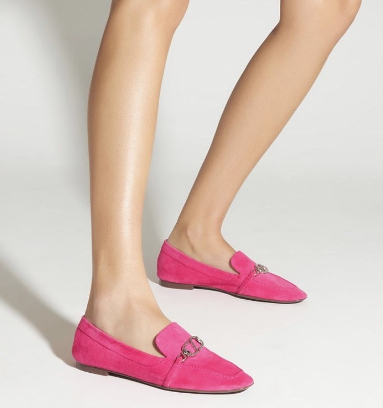 Mocassim Schutz Loafer Minimal Nobuck Pink
