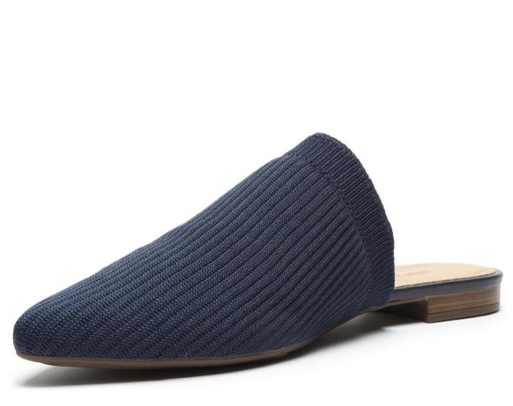 Mule anacapri Azul Marinho Knit Canelado