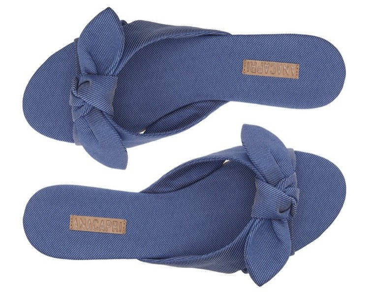 Rasteira Anacapri Azul Jeans Alice