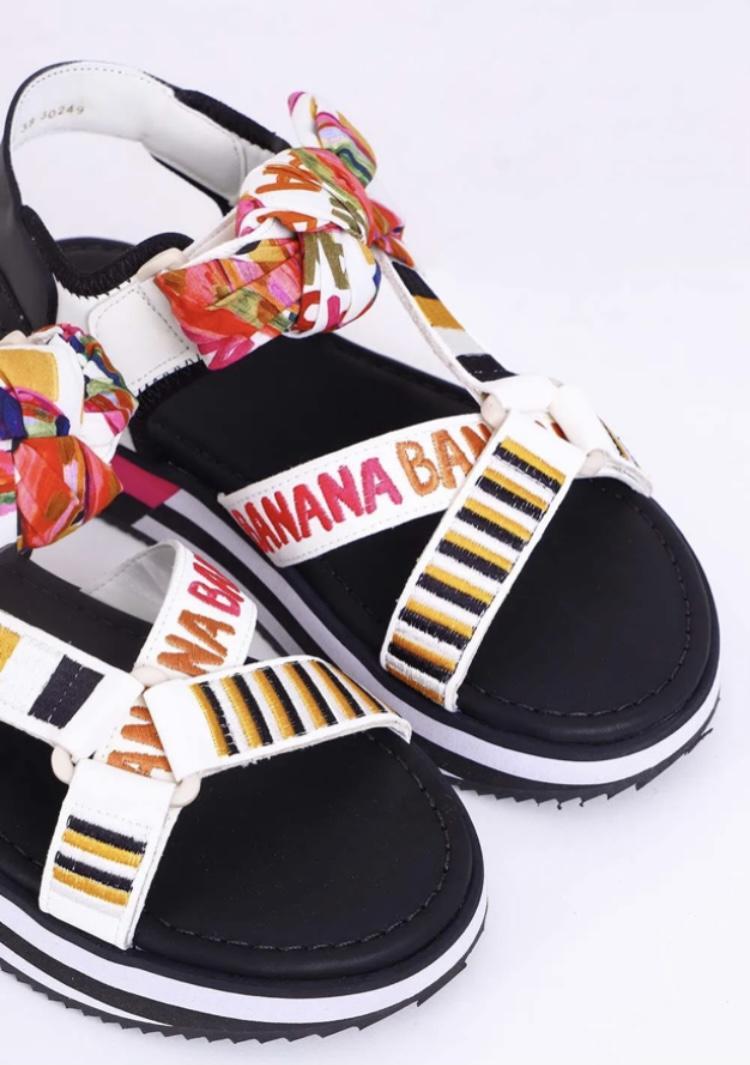 Sandália Farm Tiras Velcro Bananatic Off White