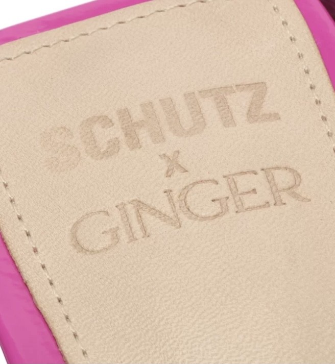 Sandália Schutz X Ginger Block Heel Lace-up Pink