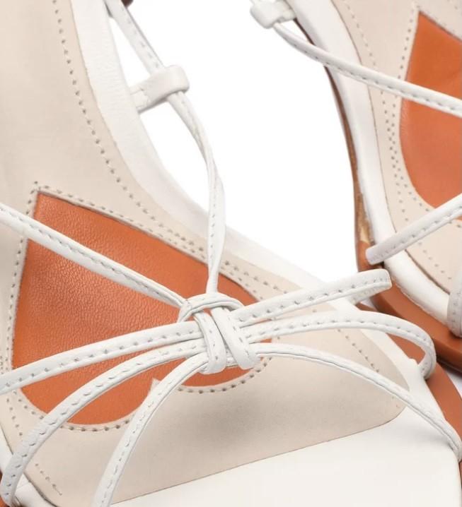Sandália Schutz  X Ginger Strings Lace-up white