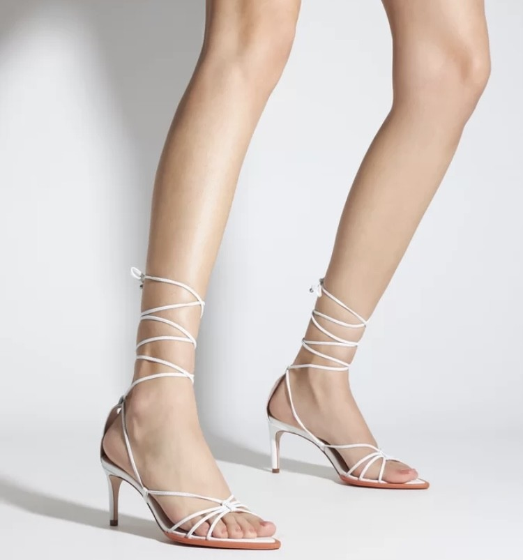 Sandália Schutz  X Ginger Strings Lace-up white