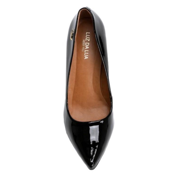 Sapato Scarpin Luz da Lua Salto Médio Verniz