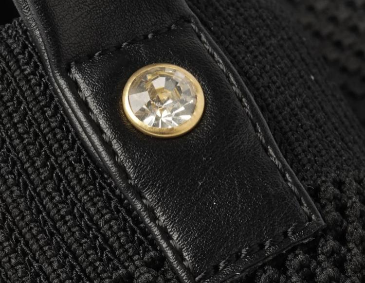 Tênis Anacapri Slip On Preto Knit Liso