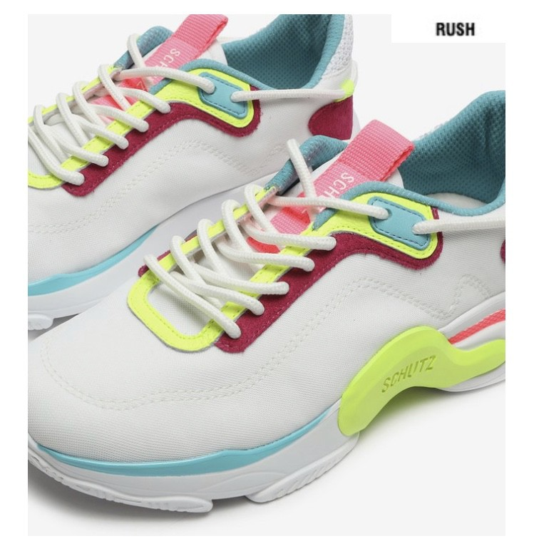 Tênis Schutz Rush White Pop Neon