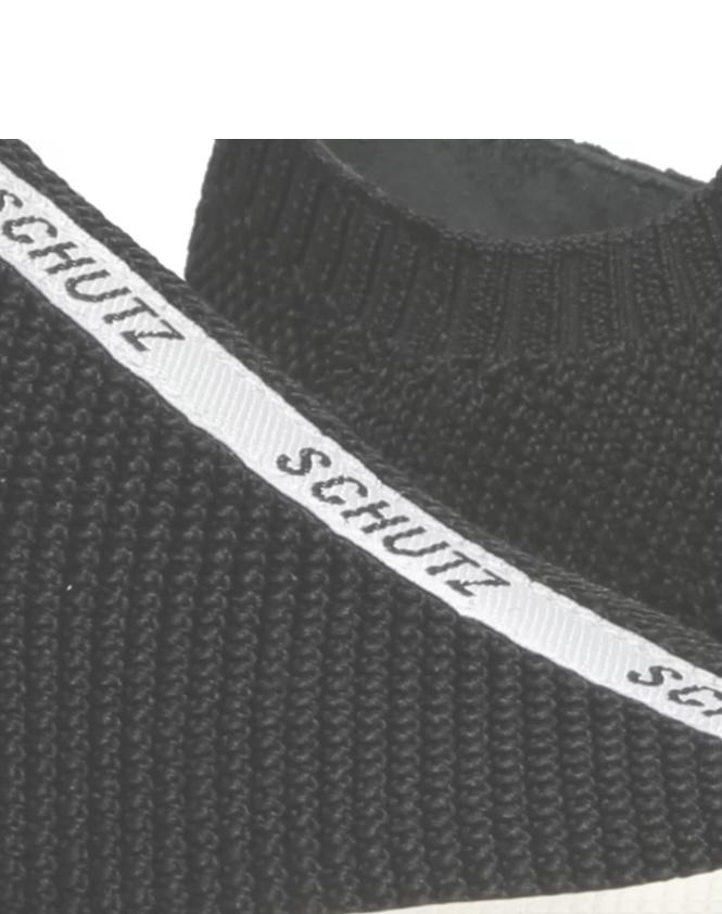 Tênis Schutz Smash Knit Preto Listra Logo