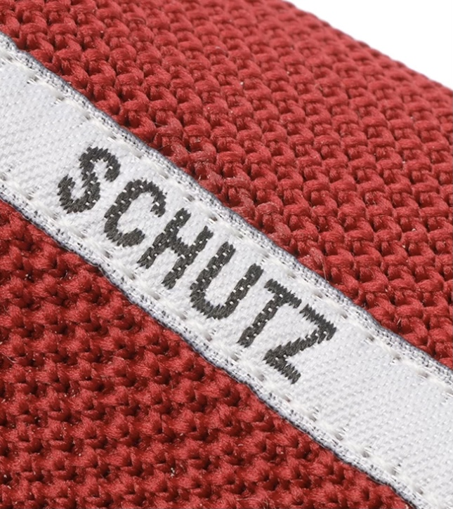 Tênis Schutz Smash Knit Vermelho Listra Logo