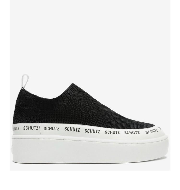 Tênis Schutz Sneaker Logomania Minimal Knit Black