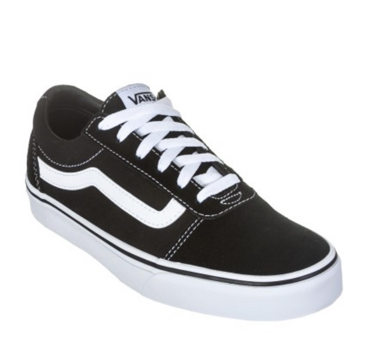 Tênis Vans Ward Suede Canvas Black/White