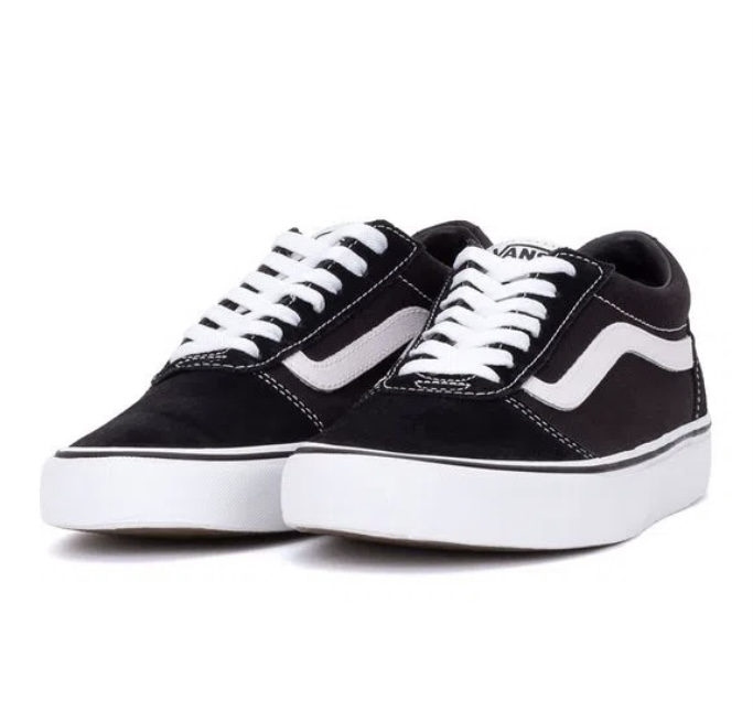 Tênis Vans Ward Suede Canvas Black/White