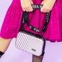 Bolsa de Blogueira em Fibra Cinza