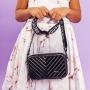 Bolsa de Blogueira em Fibra Preto