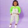 Conjunto 2 Peças Casaco com Calça Moletinho Verde Neon