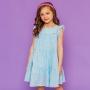PRÉ-VENDA - Vestido Franzido Laise Azul