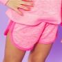 Shorts Moletinho Zig Zag Rosa Neon