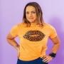 T-shirt Adulta Boca Onça Laranja