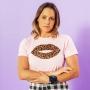 T-shirt Adulta Boca Onça Rosa