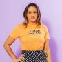 T-shirt Adulta Love Laranja
