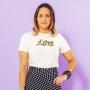 T-shirt Adulta Love Off White