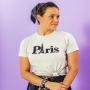 T-shirt Adulta Paris Cinza