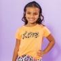 T-shirt Infantil Love Laranja