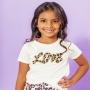 T-shirt Infantil Love Off White