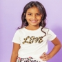 T-shirt Infantil Love Off White