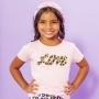T-shirt Infantil Love Rosa