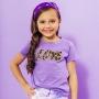 T-shirt Infantil Love Roxo