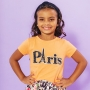 T-shirt Infantil Paris Laranja