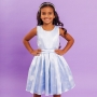 Vestido Infantil Balão Azul