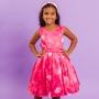 Vestido Infantil Balão Rosa